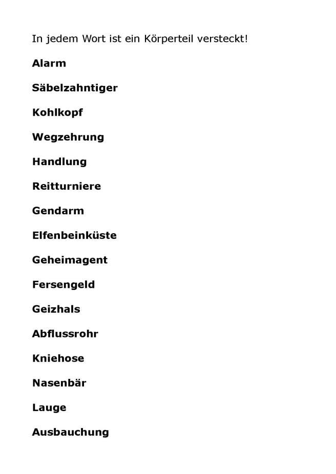 Körperteile in Wörtern suchen-page-001
