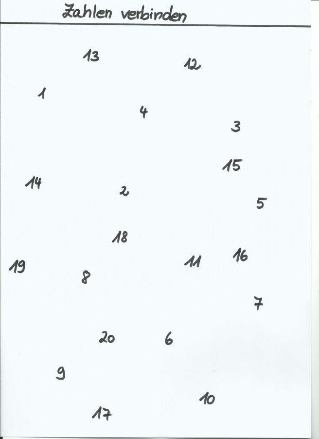 Zahlen verbinden4 von tinasblumenwiese